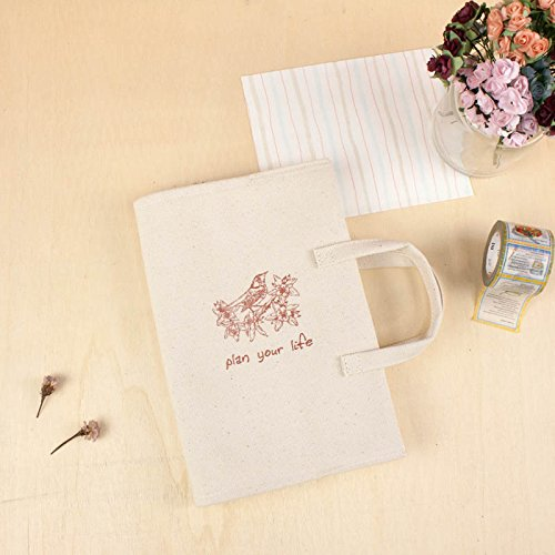 32ct Natural Linen (B6/32K Portable Linen Fabric Book Cover/Canvas (Bird))