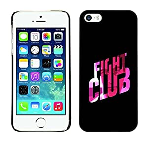 Soft Silicone Rubber Case Hard Cover Protective Accessory Compatible with Apple iPhone? 5 & 5S - fight club quote slogan pink bling