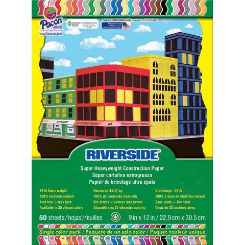 Riverside Construction Paper, 76 Lbs., 9 - Yellow Green 50 Sheet Shopping Results