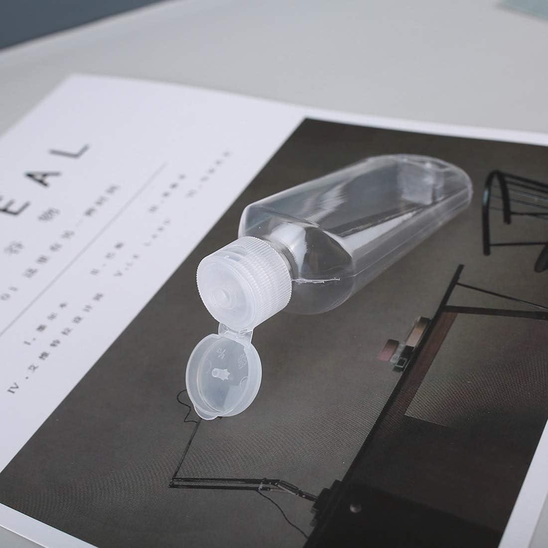 8 botellas recargables de 50 ml botellas de pl/ástico vac/ías con gancho mosquet/ón para cintur/ón.