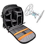 DURAGADGET Water-Resistant Rucksack with Customizable Interior & Raincover for the Parrot Jumping Sumo Mini-Drone (Large Wheels & Tightened Wheels) / Parrot Rolling Spider Mini-Drone