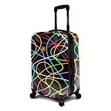 Loudmouth Black Scribblz 22'' Expandable Carry-On Spinner Luggage