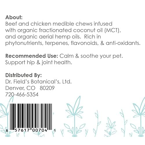 chic Canine Medibles - 175+ Hemp Dog Chews (1 mg Aerial Hemp Oils Each) - Great for Anxiety, Pain, Old Hips/Joints, Thunderstorms, Fireworks, Excessive Barking, & More - Veterinarian Recommended - 4.5 oz