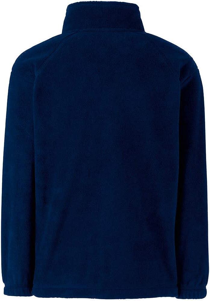 Fruit of the Loom Childrens//Kids Unisex Full Zip Outdoor Fleece School//Casual Jacket