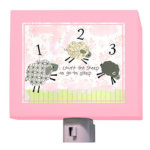 "Oopsy Daisy Counting Sheep Night Light, Pink, 5"" x 4"""