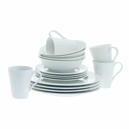 Maxwell and Williams Basics Cosmopolitan 16-Piece Dinner Set White  sc 1 st  Amazon.com : maxwell williams dinnerware - pezcame.com