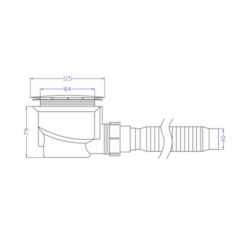 Piatto Doccia 70x70x4 cm Quadrato Acrilico mod Flower UltraSlim