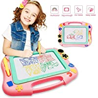 FONLLAM Updated Magnetic Drawing Board, Kids Magna Drawing Doodle Board Toys for Toddlers Girls, Boys, Erasable Sketch Pad for Writing Painting