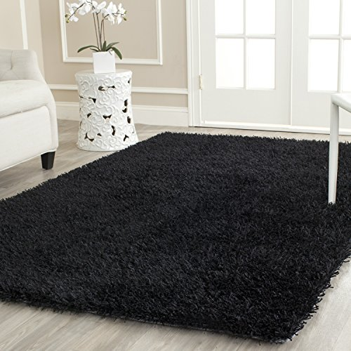 (Safavieh New Orleans Shag Collection SG531-9090 Black Polyester Area Rug (8' x 10'))
