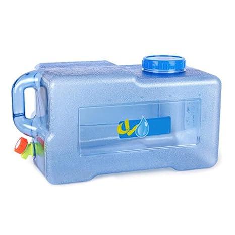 25L Bidón Plástico con Grifo, Contenedor De Agua Portátil ...