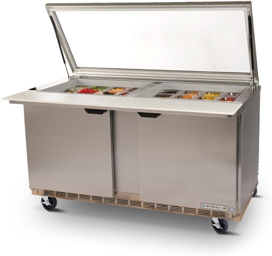 "Beverage-Air Commercial Refrigeration 72"" Sandwich Prep Table Spe72-30M"