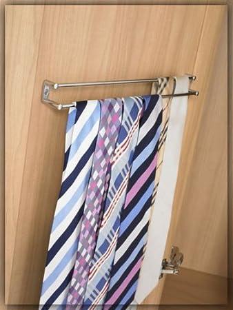 Twin rail tie rack Chrome by Fitmykitchen: Amazon.co.uk: Kitchen ...