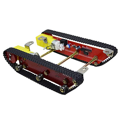HITSAN Smart Robot Tank Chasis Kits Caterpillar Crawler Integrated Two motor for Arduino One Piece