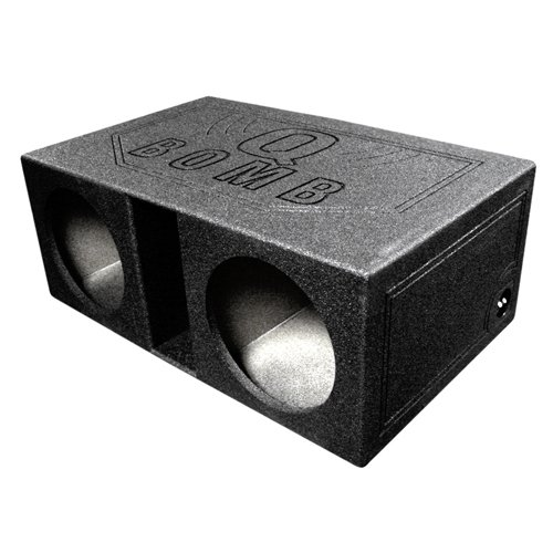 Q Power QBOMB12VL Dual 12-Inch SPL Vented Speaker Box with Durable Bed Liner ()