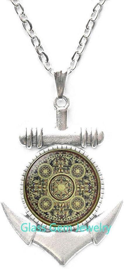 Mandala Locket Pendant Sacred geometry jewelry spiritual Locket Necklace ,Q0212
