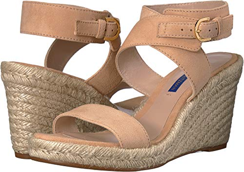 - Stuart Weitzman Women's Lexia Wedge Sandals, Adobe, Tan, Pink, 9.5 M US