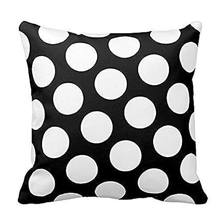 white polka dot cotton pillow cover