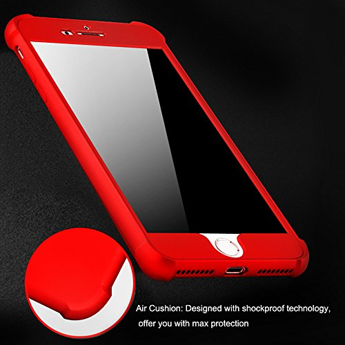 Funda para iPhone 8Plus, CLTPY iPhone 8Plus Cubierta Plástico Duro Luxury Detachable 3 in 1 Coating Caja Protectora Ultrafina para Apple iPhone 8Plus + 1 x Stylus Libre - Oro Rosa A Negro B