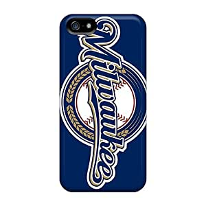 Fashionable Style Case Cover Skin For Iphone 5/5s- Milwaukee Brewers