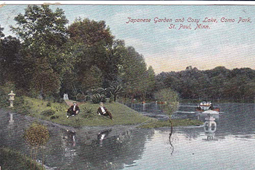 540VINT05 Japanese Garden and Cosy Lake, Como Park, St. Paul, Minn. COLLECTIBLE VINTAGE Post Card from HIBISCUSEXPRESS -THIS POSTCARD IS 5 1/2