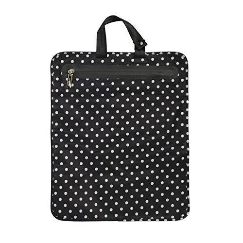 JuJuBe Be Dry Premium Water Resistant Wet Bag, Legacy Collection - The Duchess - Black with White Polka Dots