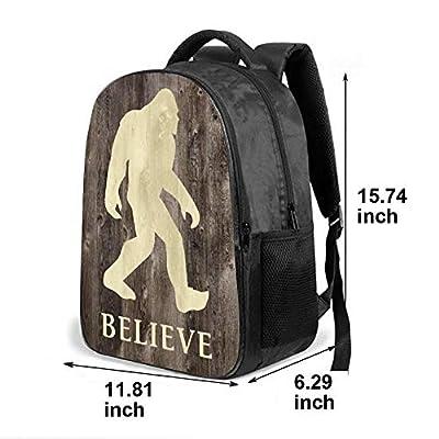 SARA NELL School Bags for Kids Elementary Believe Bigfoot In Wooden Floor School Backpacks Bookbags for Children | Kids' Backpacks