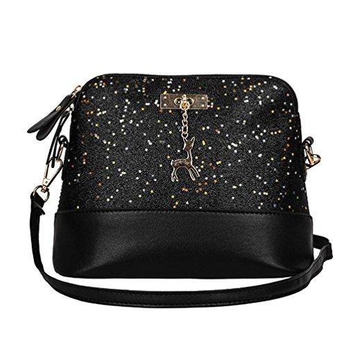 New Womens Leather Crossbody Bag small Deer Shoulder Bags Purse Messenger Bag by VESNIBA