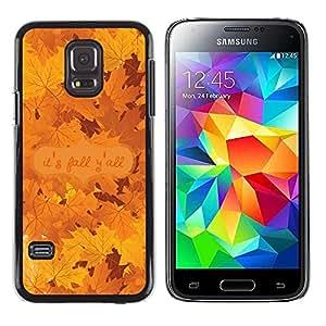 """Pulsar Snap-on Series Teléfono Carcasa Funda Case Caso para Samsung Galaxy S5 Mini ( NOT for regular S5 ) , Hojas de arce del otoño Árbol de oro de Brown"""""""