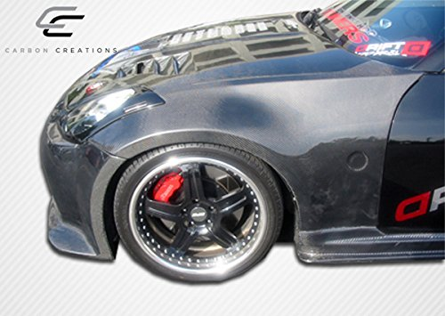Carbon Creations ED-SGT-920 OEM Fenders - 2 Piece Body Kit - Fits Nissan 350Z 2003-2008 (Nissan Fiber Carbon 350z Oem)