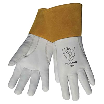 "Tillman 1338 Top Grain Goatskin TIG Welding Gloves with 4"" Cuff, X-Large - Welding Safety Gloves - .com"