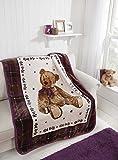 Teddy Hug Me Blanket - Grape - 110x140cm