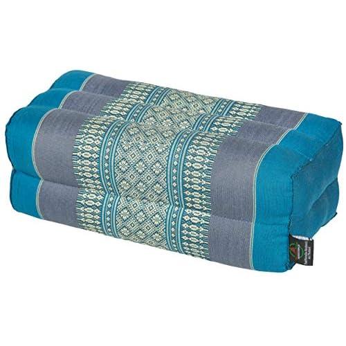 Cojín rectangular con relleno de kapok - 35 x 15 x 10 cm Perfecto para yoga, meditación y relajación. a buen precio