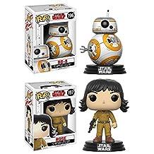 Funko POP! Star Wars The Last Jedi: BB-8 + Rose – Stylized Vinyl Bobble-Head Figure Set NEW