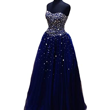 Ulbridal Navy Blue Quinceanera Dresses Beading Ball Gown Vestidos Plus Size