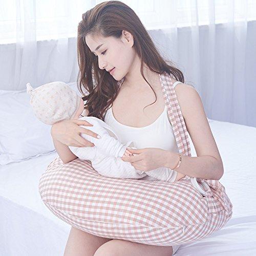LUOTIANLANG Multifunctional strap suckling pillow pillow for baby feeding pregnant women waist nursing pad baby sitting pillow, F,48 60cm