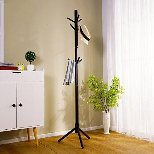 LQQGXL LQQGXLModern minimalist coat rack, Coat rack landing simple hanger bedroom solid wood clothes rack (Color : 2#) by LQQGXL