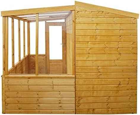 Waltons - Invernadero y cobertizo de madera de 2, 53 x 2, 49 m ...