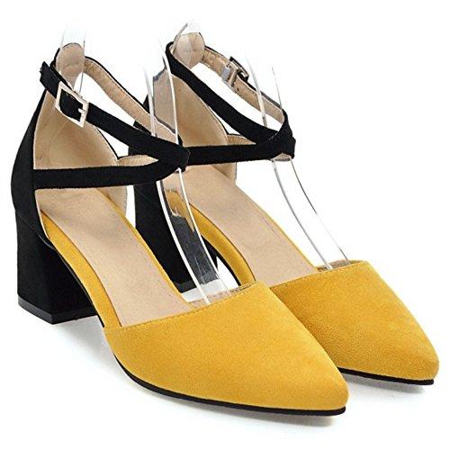 AicciAizzi Bout Femmes Ferme Escarpins Yellow wTPwnqxvC