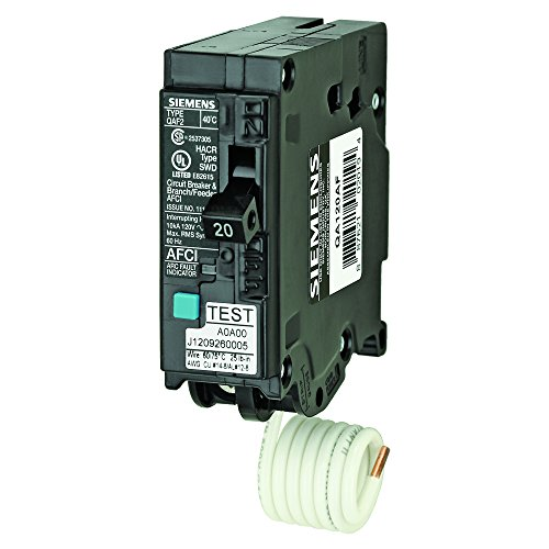(Siemens QA120AF 20-Amp, Single Pole, 120-volt, Plug On Type, Branch Feeder Style AFCI Breaker )