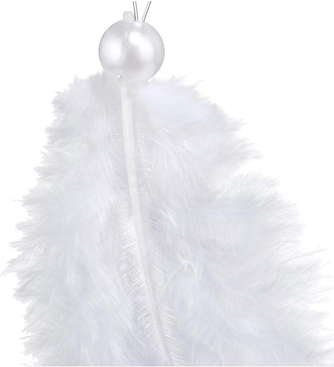 Perles Blanches Sublime no/ël Lot de 12 sujets de no/ël Plumes FEERIC CHRISTMAS