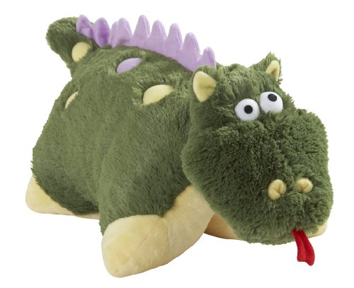 Cogsworth Costume Kids (My Pillow Pet Dragon - Small (Green))