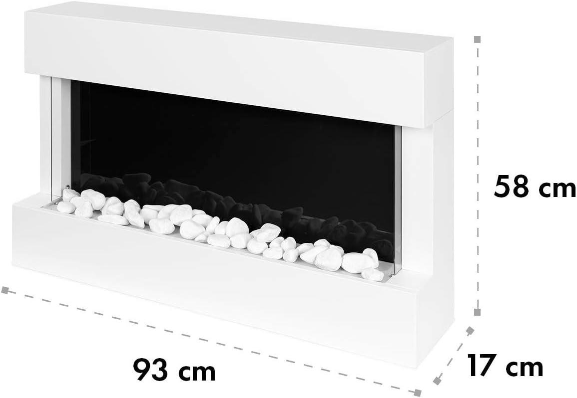 LED-Flammenillusion 1000//2000W antikwei/ß Thermostat: 10-30 /°C Klarstein Studio 1 Elektrischer Kamin Elektrokamin Fernbedienung MDF-Geh/äuse Open Window Detection Wochentimer /Überhitzungsschutz