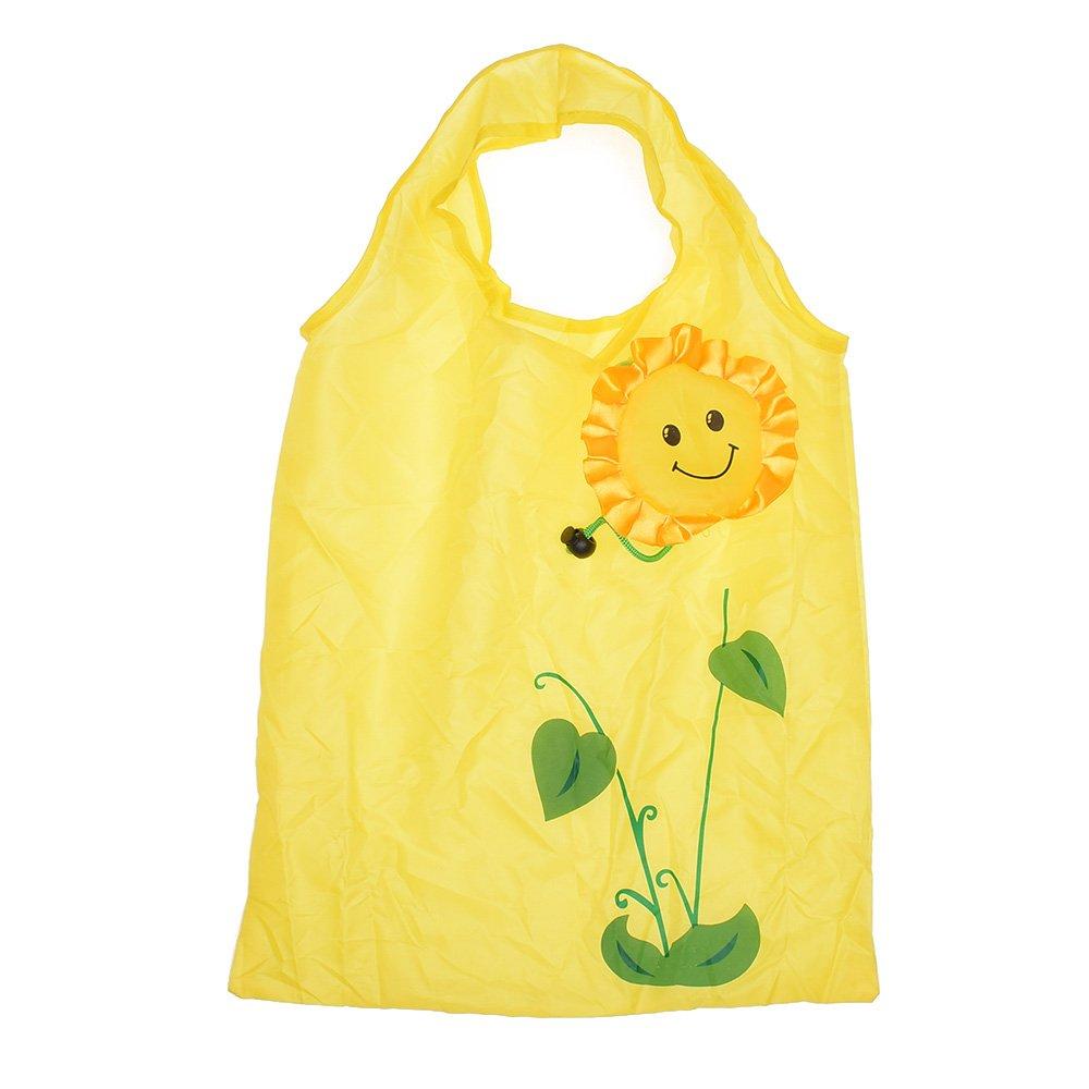 icyangひまわりショッピングバッグのセット3、再利用可能な、環境に優しい、折りたたみ、ポータブルハンドルGrocery Bag   B077Q6P4W6