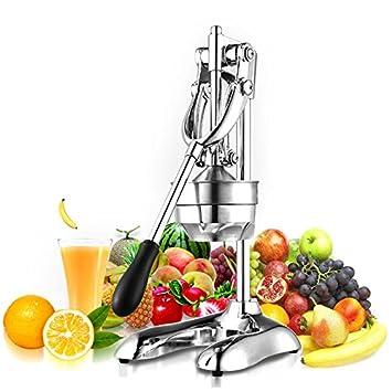 Profesional Juice Extractor Exprimidor de palanca para naranja Granada cromo,Manual de Prensa Orange Citrus Juicer Juice Extractor Acero inoxidable Nuevo ...