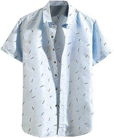 Camisas de Hombre T Shirt tee Moda Camiseta de Verano Playa Manga Corta Casual Blusa Informal Suelta con Estampado Diario Suelta Informal Tops: Amazon.es: Ropa y accesorios