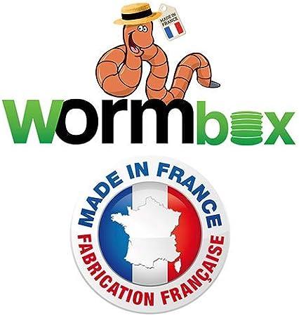 WormBox 48 litros Vermicompostador 3 bandejas Negro