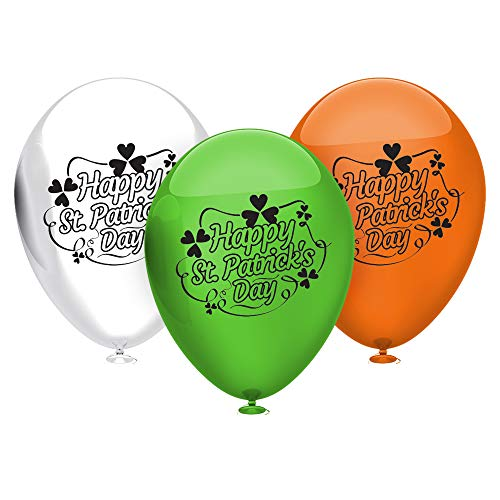 (Kaba Flair St. Patrick's Day Party Balloons - Assorted Colors - Party Decorations - 40 Latex Balloons - with Fun Festive Print - for Goodluck - Create A Festive Atmosphere)