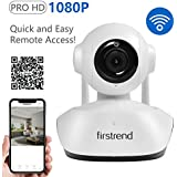 Wireless Security Camera, Firstrend 1080P HD WiFi Security Surveillance IP Camera Home Monitor with SD Card Recording Two Way Audio and Night Vision