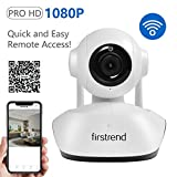 Wireless Security Camera, Firstrend 1080P HD WiFi Security Surveillance IP Camera Home Monitorwith SD Card Recording Two Way Audio and Night Vision