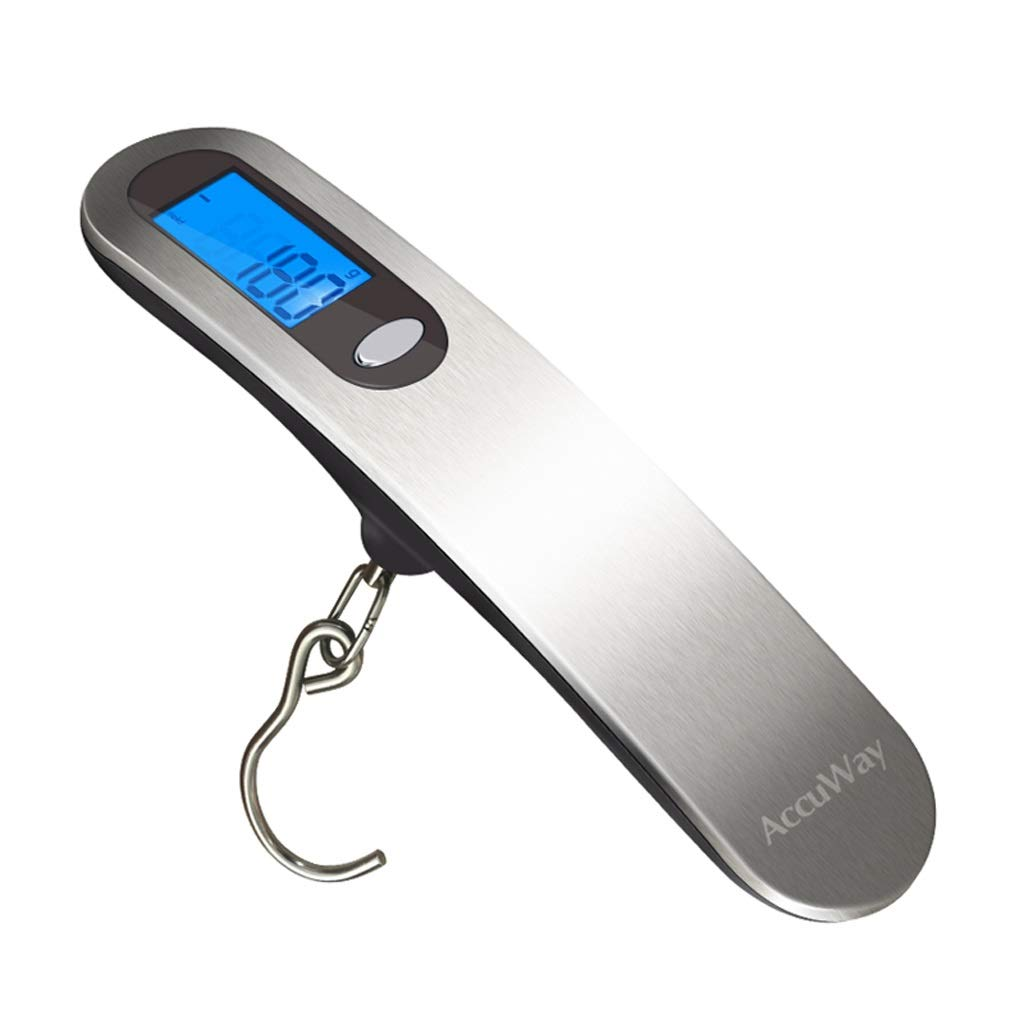 Color : Silver SKATEGY 110 Lb High Precision Luggage Scale Travel Digital Hanging Scale 50kg with Hook